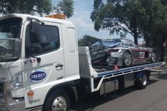 Accident race car transport