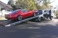 Exotic car towing