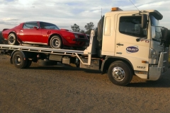 Muscle car towing