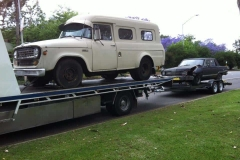 Old Car and Caravan Towing