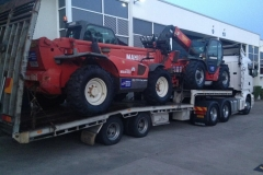 Towing an industrial forklift