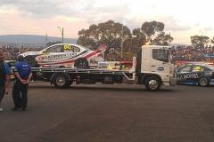 Race car towing arrived at destination