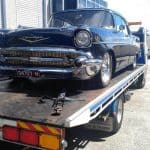 Old classic car towing