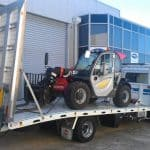 Towing a forklift