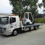 White forklift transport