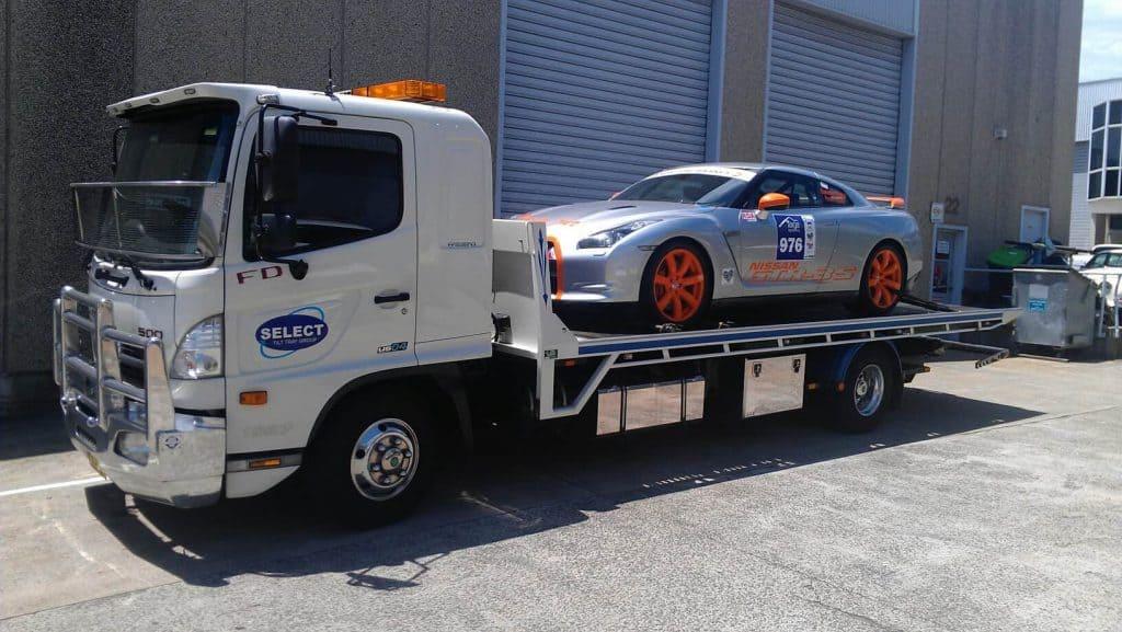 Race car towing in Sydney