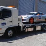 Race car transport by Select Tilt Tray Group truck