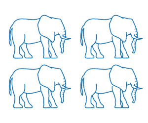 4 x Elephants: Approx 24 tonnes