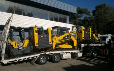 8 wheeler tilt tray bobcat transport