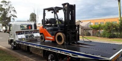 forklift tilt tray towing