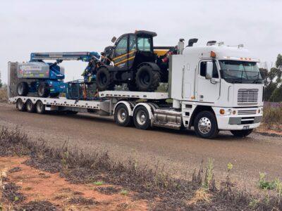 machinery tilt tray transport