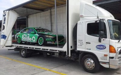 close tilt tray race car transport